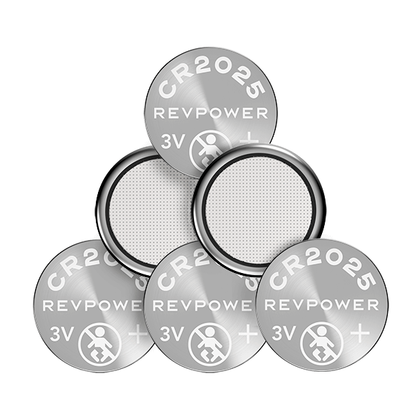 REVPOWER CR2025 LITHIUM COIN BATTERY - 6 pack